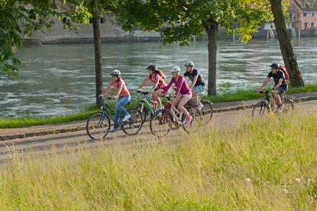 Radfahren Gailingen Uferpark